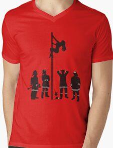 Fire Pole Mens V-Neck T-Shirt