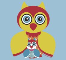 Mother and Baby Owl Baby Tee