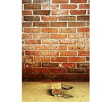 16.4.2014: Brick and Brick Wall Photographic Print
