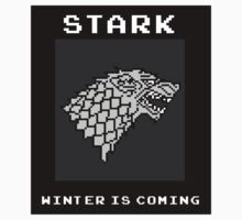 8-Bit Game of Thrones Stark Banner by Aaron Taylor