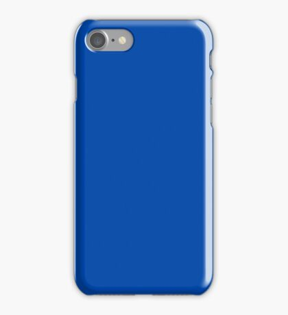 PURE COLOR-COBALT BLUE iPhone Case/Skin