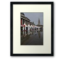 Oh So London - Rain, Puddles and Reflections Framed Print