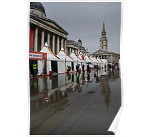 Oh So London - Rain, Puddles and Reflections Poster
