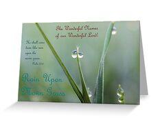 Rain Upon Mown Grass Greeting Card