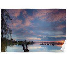 Lake Nagambie at Sunset Poster