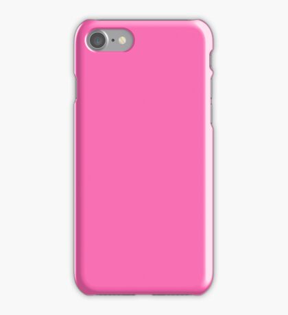 PURE COLOR-HOT PINK iPhone Case/Skin