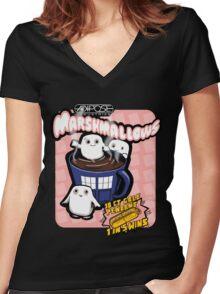 Adipsoe Marshmallows Women's Fitted V-Neck T-Shirt