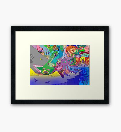 The Drop-off Framed Print