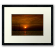 Yatchs of the bay Framed Print