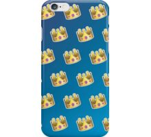 Crown Emoji Pattern Blue iPhone Case/Skin