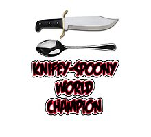 Knifey-Spoony World Champion Photographic Print