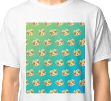 Crown Emoji Pattern Blue and Green Classic T-Shirt
