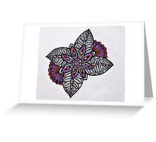 Detailed Flower Design Greeting Card