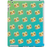 Crown Emoji Pattern Blue and Green iPad Case/Skin
