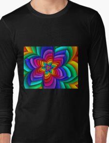Geometric Rainbow Flower  Long Sleeve T-Shirt