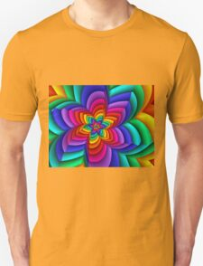 Geometric Rainbow Flower  Unisex T-Shirt