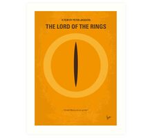 No039 My Lord of the Rings minimal movie poster Art Print