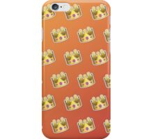 Crown Emoji Pattern Orange iPhone Case/Skin