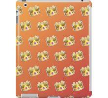 Crown Emoji Pattern Orange iPad Case/Skin