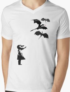 Dragons Will Be Dragons Mens V-Neck T-Shirt