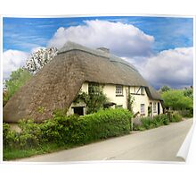 A Quaint Little Thatched Cottage Poster