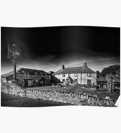 Jamaica Inn Black and White Poster