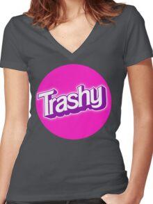 Barbie Inspired 'Trashy' T-shirt Women's Fitted V-Neck T-Shirt