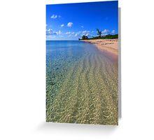 Rainey's Point Beach Greeting Card