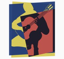 Pop Art Acoustic Guitar Player by retrorebirth