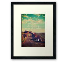 The Road Ahead Framed Print
