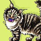 Maine Coon Tabby Gentle Giant by offleashart