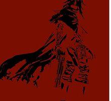 Vincent Valentine Minimalist Red by jamden37
