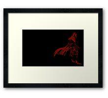 Vincent Valentine Minimalist Black Framed Print
