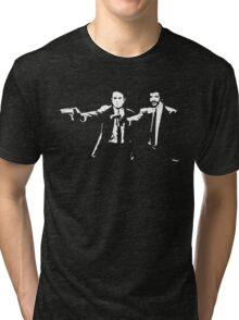 Pulp Fiction Neil deGrasse Tyson and Carl Sagan. Tri-blend T-Shirt