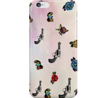 guns and roses  iPhone Case/Skin