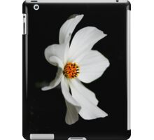 White Cosmos Bloom iPad Case/Skin