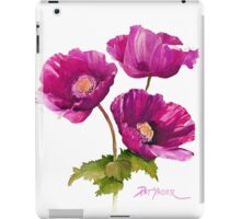 Purple Poppies for your ipad! iPad Case/Skin