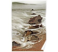 Rock and Water: Pescadero, CA., Winter, 2014 Poster