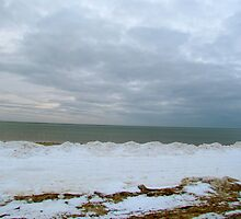 Snow and the Sea by GleaPhotography