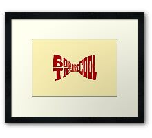 Doctor Who: bow tie (red) Framed Print
