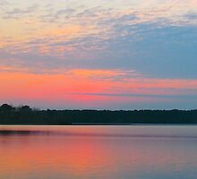 Pink sunset over Pond 2 by GleaPhotography