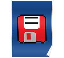 Floppy Disk - Red Poster