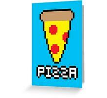 8-Bit Pizza Greeting Card
