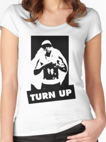 Turn Up Women's Fitted Scoop T-Shirt