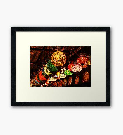 Decoration Lamps Framed Print
