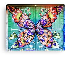 Butterfly Graffiti Canvas Print
