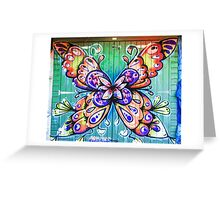 Butterfly Graffiti Greeting Card