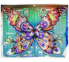Butterfly Graffiti Poster