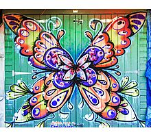 Butterfly Graffiti Photographic Print