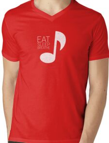 Eat, Sleep, Breathe Music Tee Mens V-Neck T-Shirt